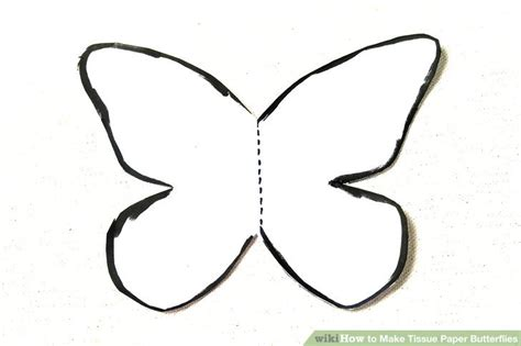 How To Make Paper Butterfly Wings - 3 ways to make tissue paper butterflies wikihow