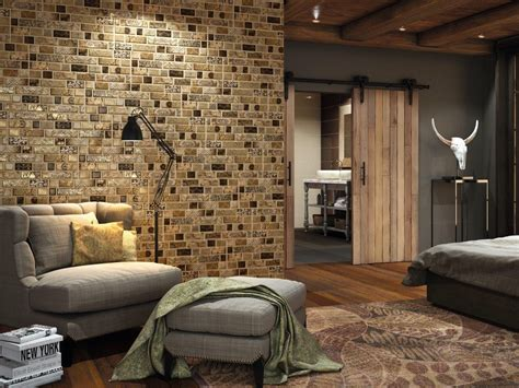 feature wall carisma brown ceramic feature wall brick effect tile