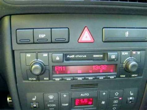 Radio Chorus Audi by Radio Chorus Ii Audi A3 Youtube