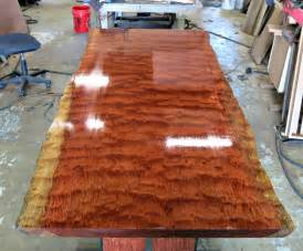 Reclaimed Kitchen Islands Custom Made Live Edge Bubinga Dining Table By Donald Mee