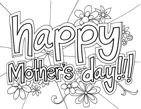 day coloring sheets free printable mothers day coloring pages for