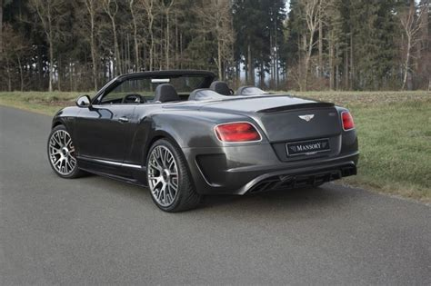bentley gtc mansory limited edition styling package for the bentley gt