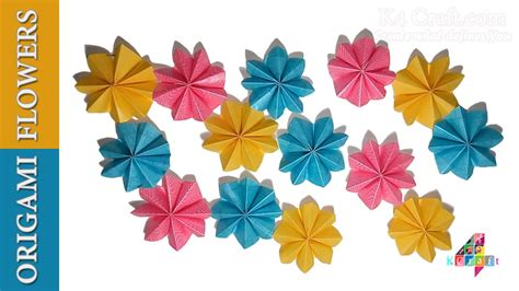 Origami Hanging Flowers - diy simple origami paper flowers easy wall home