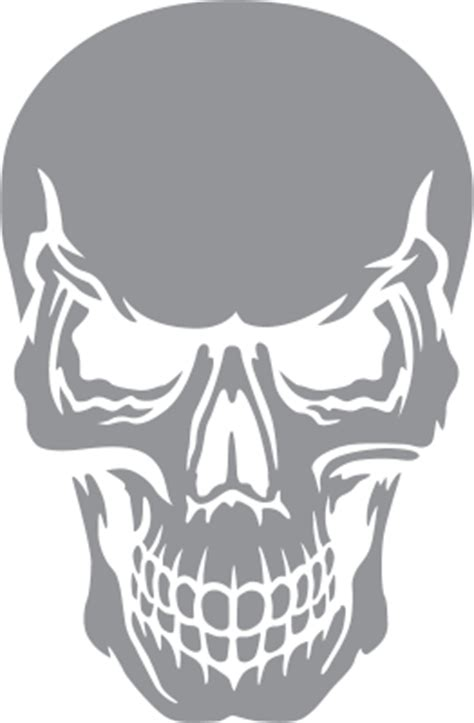 skull with angry expression pre cut patterns
