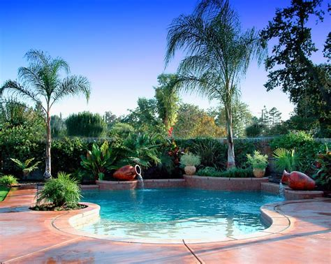 Landscape Ideas Near Pool Tropical Landscaping Ideas Around Pool 187 Design And Ideas