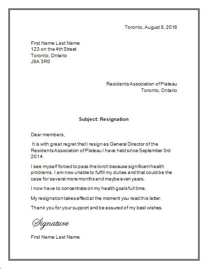 Letter Of Resignation Template Word Free Resignation Letter Of An Association Resignation Letter