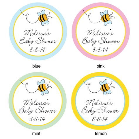 Sticker Labels For Baby Shower Favors by Baby Bee Personalized Labels 20 Pieces Baby