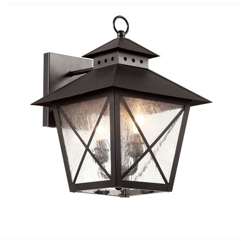 Farmhouse Outdoor Lighting Bel Air Lighting Farmhouse 2 Light Outdoor Black Wall Lantern With Seeded Glass 40172 Bk The