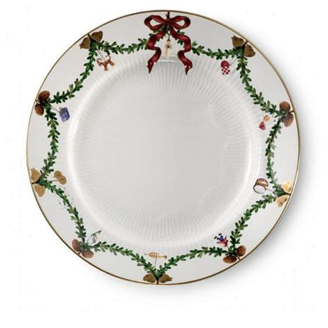 royal copenhagen star fluted christmas dinner plate at