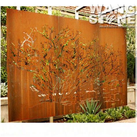 corten garden screens price corten steel decoration laser cut outdoor metal