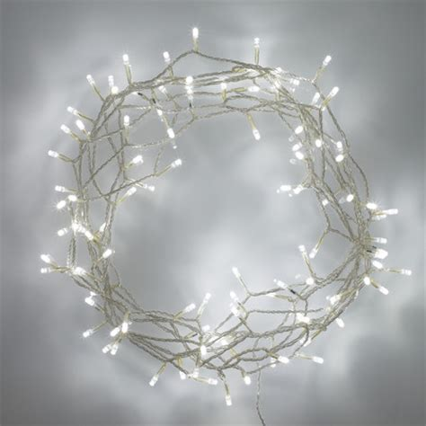100 white led fairy lights on clear cable lights4fun co uk