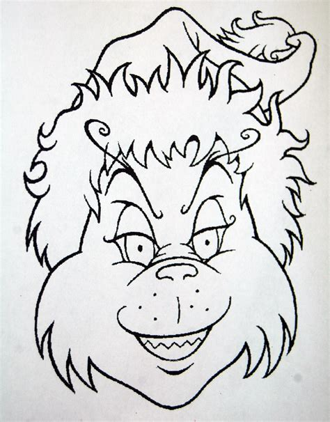 best photos of grinch mask template grinch mask