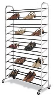 closet shoe rack portable stand organizer chrome storage