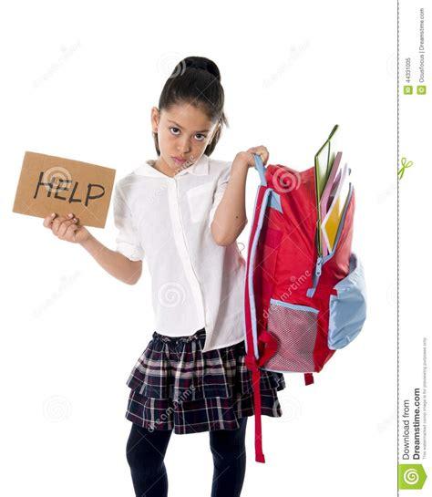 sweet school girls sweet little mexican school girl carrying heavy backpack
