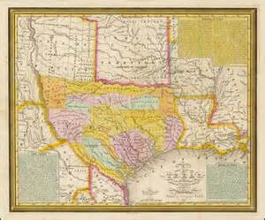 map of in 1836 a new map of with the contiguous american mexican