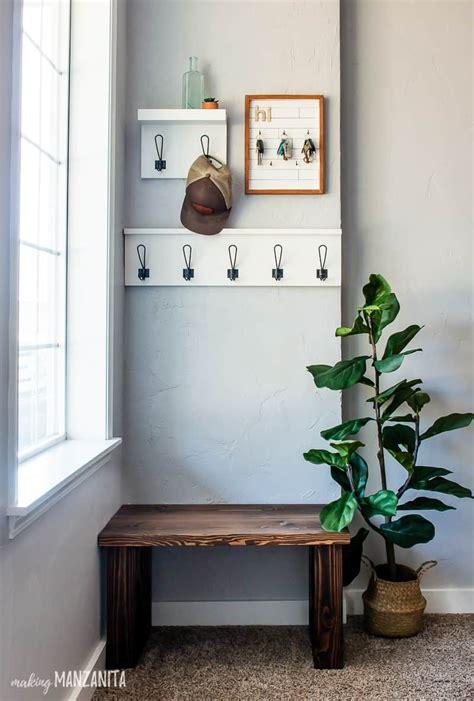 easy diy bench  small entryway   plans