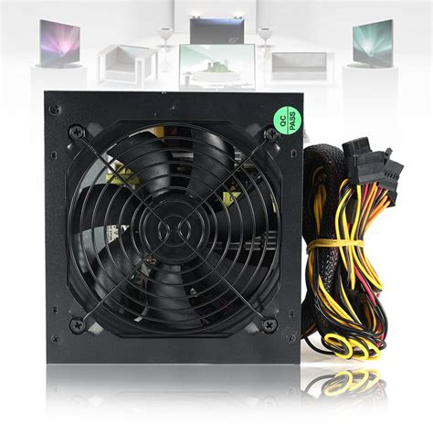 Power Supply Imperion 550 Watt 6 Pin 550w pc psu power supply black gaming 120mm fan blue led 20 24pin 12v atx high quality computer