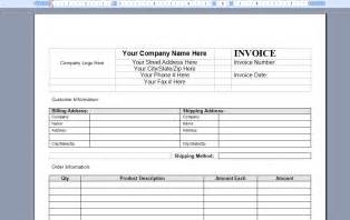 Microsoft Word Invoice Template 2003 Free Word Invoice Template Marketing Spot
