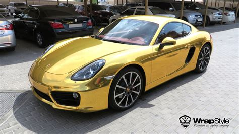 gold porsche truck bugatti gold chrome wrapstyle premium car wrap car