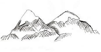 Blueprint Sketch Mountain Drawing Samantha Bell