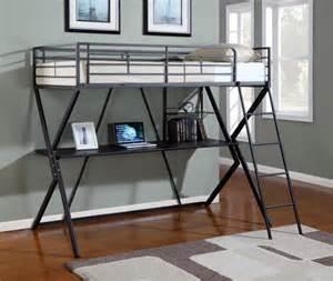 metal bunk bed with desk bedroomdiscounters bunk beds metal