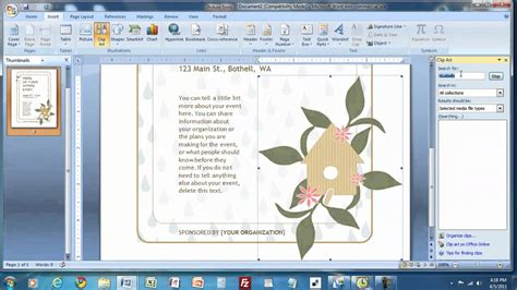 How Do I Create A Trell Card Template by How To Create A Flyer In Ms Word Mp4