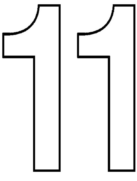free coloring pages of the number 11