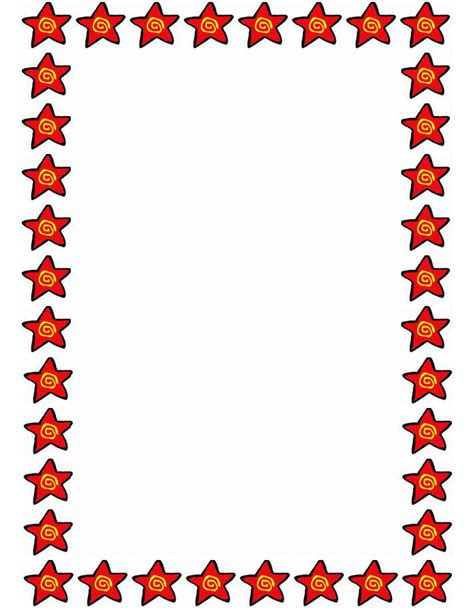 6 best images of star border paper printable free