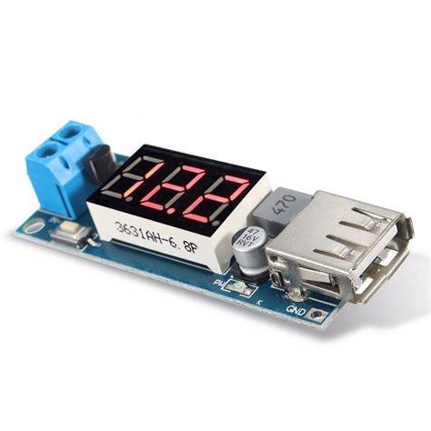 New Dc Step 5v 2a Voltmeter dc dc 4 5 40v step led voltmeter usb voltage
