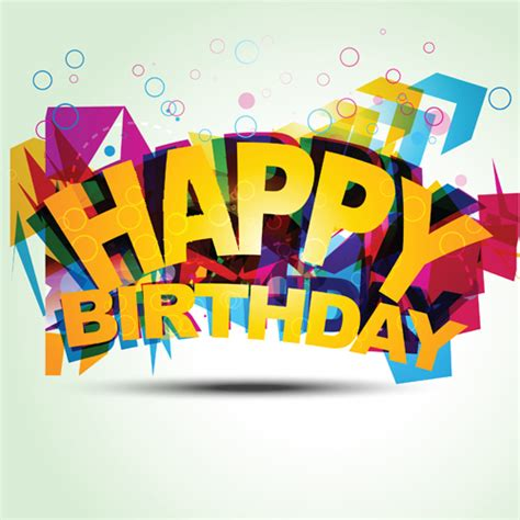 design happy birthday photo best happy birthday design elements vector set 07 vector
