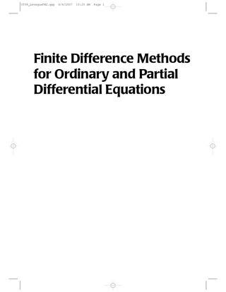 L.N.TREFETHEN FINITE DIFFERENCE AND SPECTRAL METHODS PDF