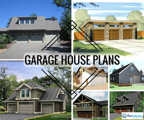 Split Plan House by Garage Plans With Shops Mother In Law Suites Apartments