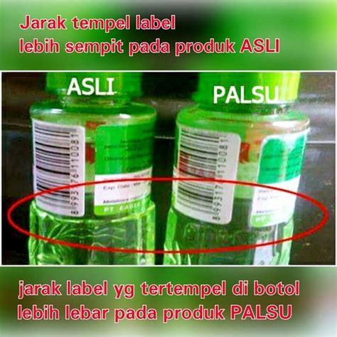 Minyak Kayu Putih Khas Makassar cara mudah bedakan minyak kayu putih asli dan palsu