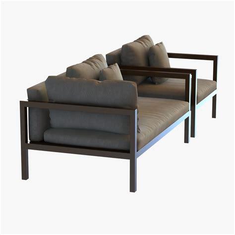 3d model sofa kettal landscape sofa and chair 3d model max 3ds fbx