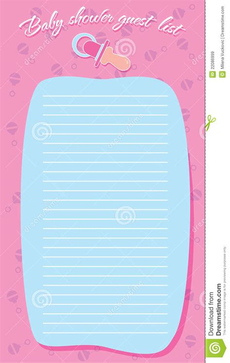 Template Frame Design For Baby Shower Stock Illustration Image 22086999 Baby Shower Design Templates