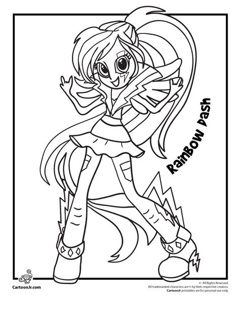 My Little Pony Rainbow Dash From Equestria Girls Cartoon Rainbow Dash Equestria Coloring Pages Printable