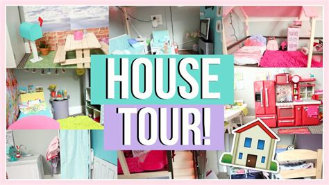 ag doll house tours huge dollhouse tour american girl doll house tour 2016 youtube