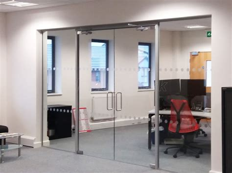 Glass Partition Doors Glass Partitioning At Pruftechnik Ltd Lichfield Staffordshire Glass Partition With Framed