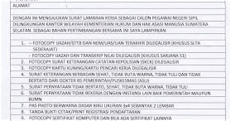 aplication and contoh surat lamaran kerja cpns