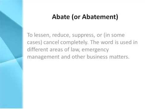 abate definition what does abate