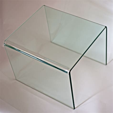 glass waterfall end table 2 mid century modern glass waterfall end tables