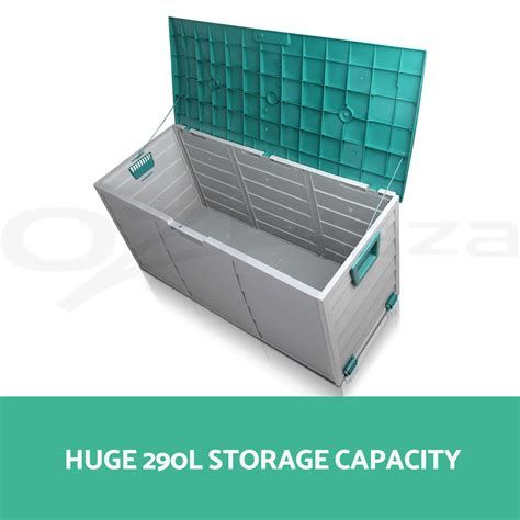 Tool Shed Toys by 290l Outdoor Storage Lockable Box Green Weatherproof