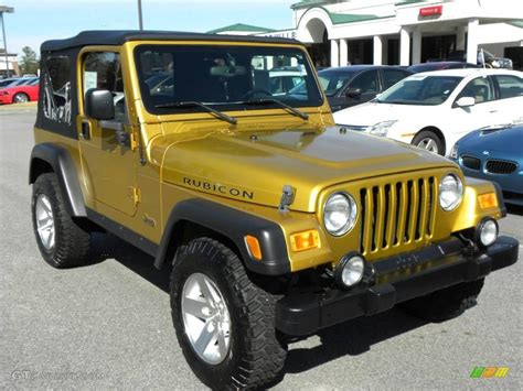 jeep gold 2003 inca gold metallic jeep wrangler rubicon 4x4