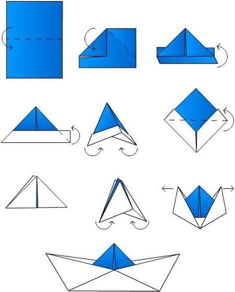 Folding Paper Boat - best 25 origami boat ideas that you will like on