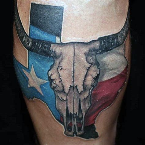 texas longhorn tattoos 70 tattoos for lone state design ideas