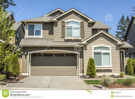 Patio House by Suburban House Royalty Free Stock Photos Image 31081678