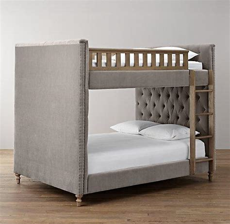 Grey Bunk Beds Chesterfield Upholstered Grey Bunk Bed