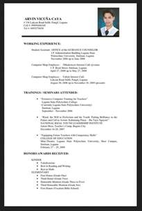 graduate resume template fresh graduate resume sle objective in resume for fresh