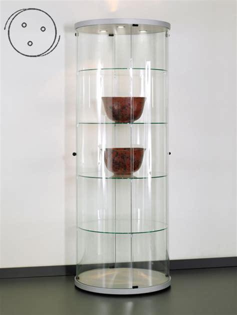 Glas Schiebetür Abschliessbar by Via Cr360a Rundvitrine Rundglas Vitrine Aus Glas Und Alu