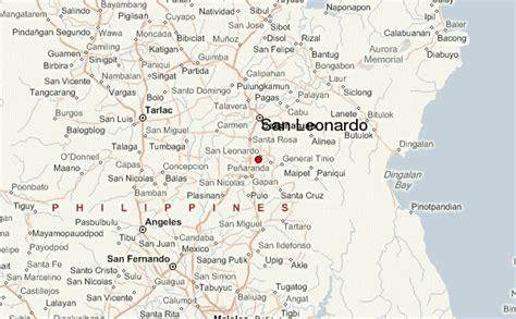 san jose nueva ecija map san leonardo location guide